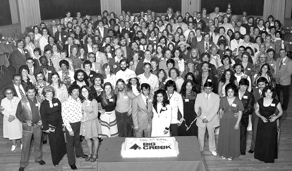 Black and white shot of employees from 1976.