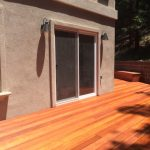Redwood patio deck.