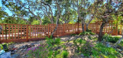 Beautiful Fence with trees and landscaping