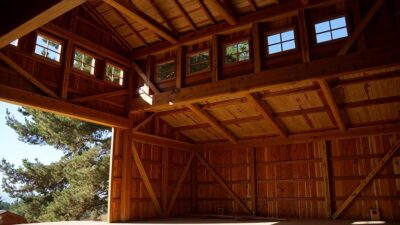 Inside of a Redwood Barn
