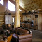 Interior of the Log Cabin.