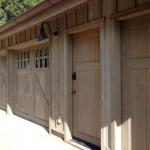 Front view of barn garage door.
