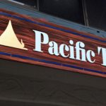 Redwood sign for Pacific Thai.