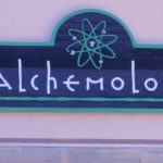 Redwood sign for Alchemology